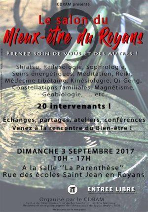 Affiche 1er salon du mieux-être du Royans